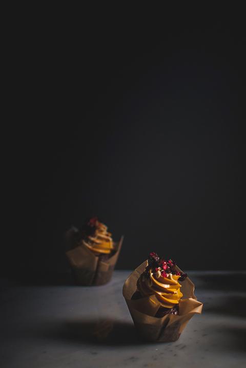 Chocolate dulce de leech cupcakes lonely